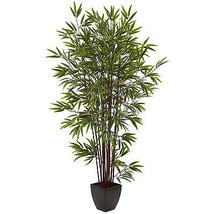 Bamboo Silk Tree 6' w/Planter/Nearly Natural™ #5459 - $2.603,54 MXN