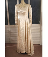 Vintage 1930s Liquid Satin Lace  Wedding Dress Bridal Gown - $350.00