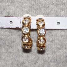 Vintage Rhinestone Bridal Hoop Clip Earrings Rhinestone Wedding Earrings - $30.00