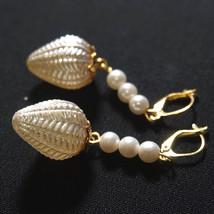 OOAK Vintage Blown Glass Bulb Drop Bridal Earrings Ivory Pearl Chandelie... - $40.00