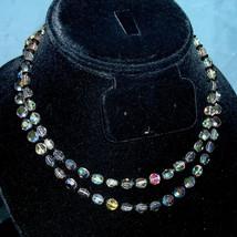 Vintage Laguna 2 Strand Swarovski Starlight Crystal Coin Bead Bridal Nec... - $60.00