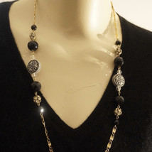 Limited Edition French Jet Swarovski Crystal Bead Necklace - $40.00