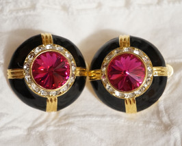 Vintage SWAROVSKI Rivoli Rhinestone Runway Earrings - $90.00