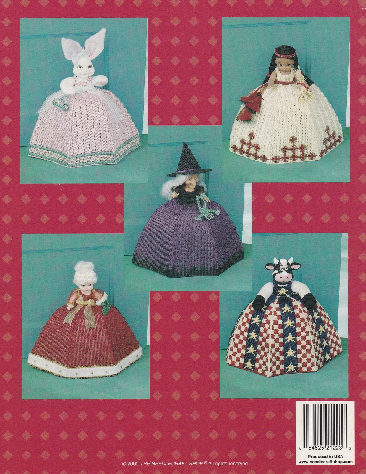 Holiday Door Darlin's Doorstops, Plastic Canvas Pattern Booklet TNS 993114 NEW