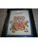 God Bless! Counted Cross Stitch Chart & Frame - $3.50
