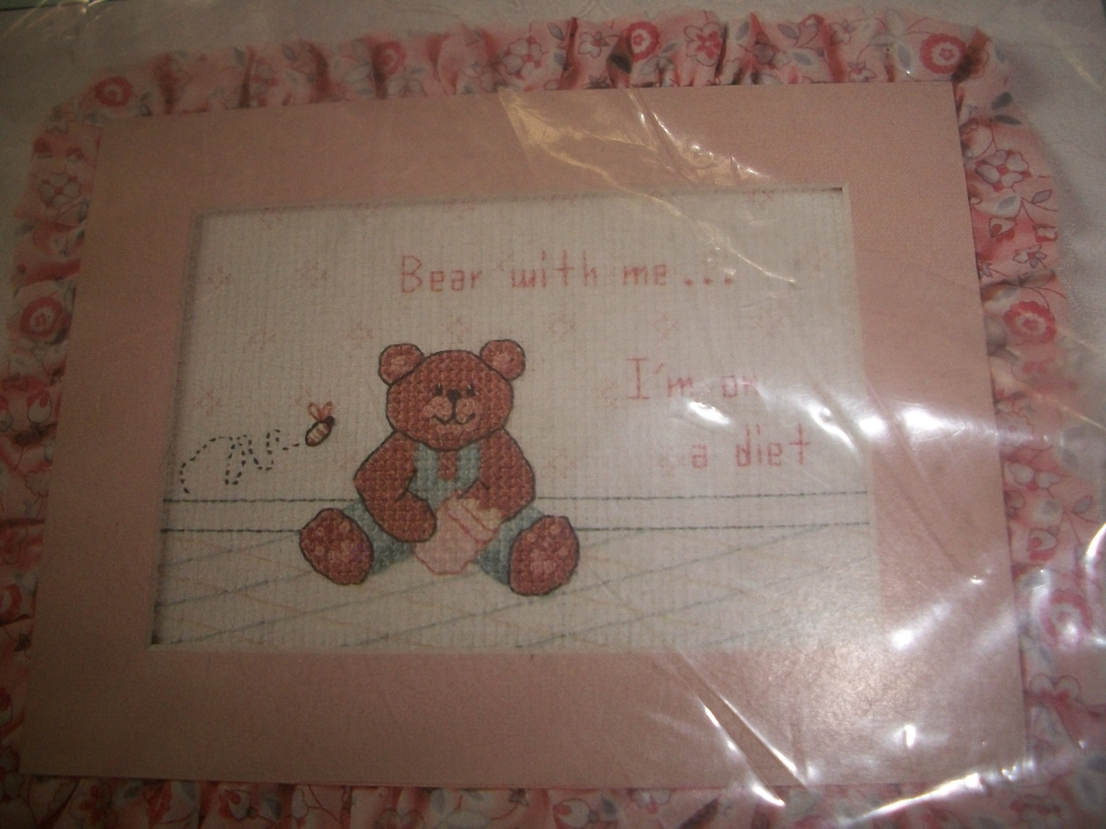 "Primary image for ""Bear With Me... I'm On A Diet"" Cross Stitch Chart"
