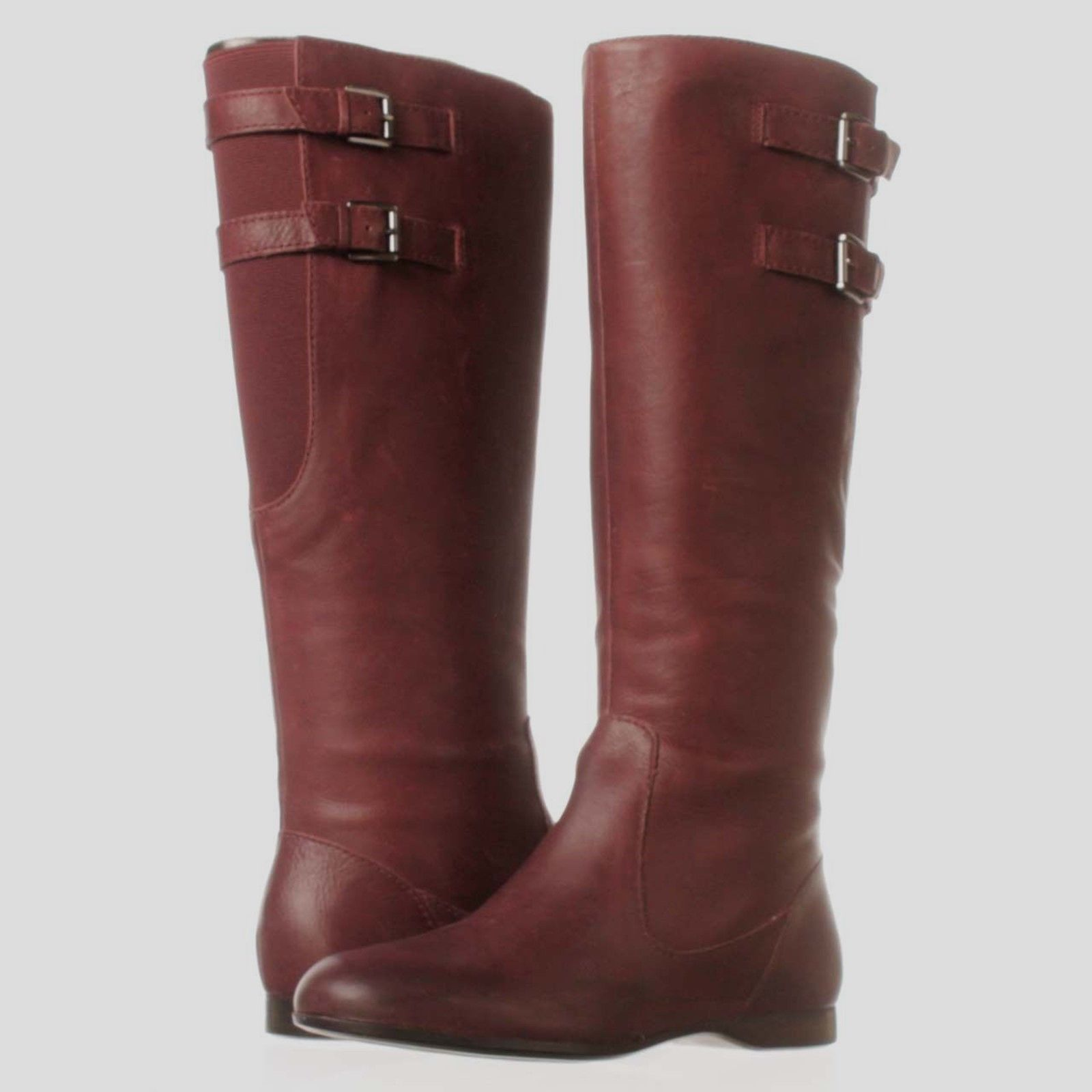 c94bd55117a8 S l1600. S l1600. Previous. Enzo Angiolini Zarynn NEW Tall Burgundy Leather  Riding Boots Size 6B