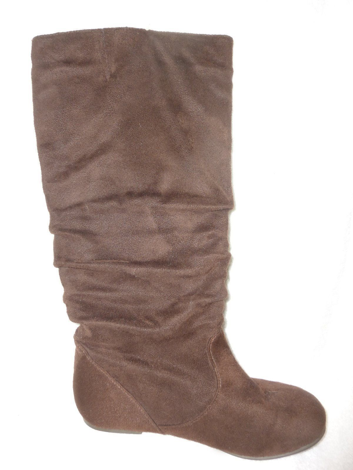 top moda brown micro suede relaxed cozy boots size 6 5 b