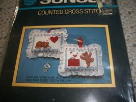 Bear Tooth Surprise Pillow Cross Stitch Chart - $3.50