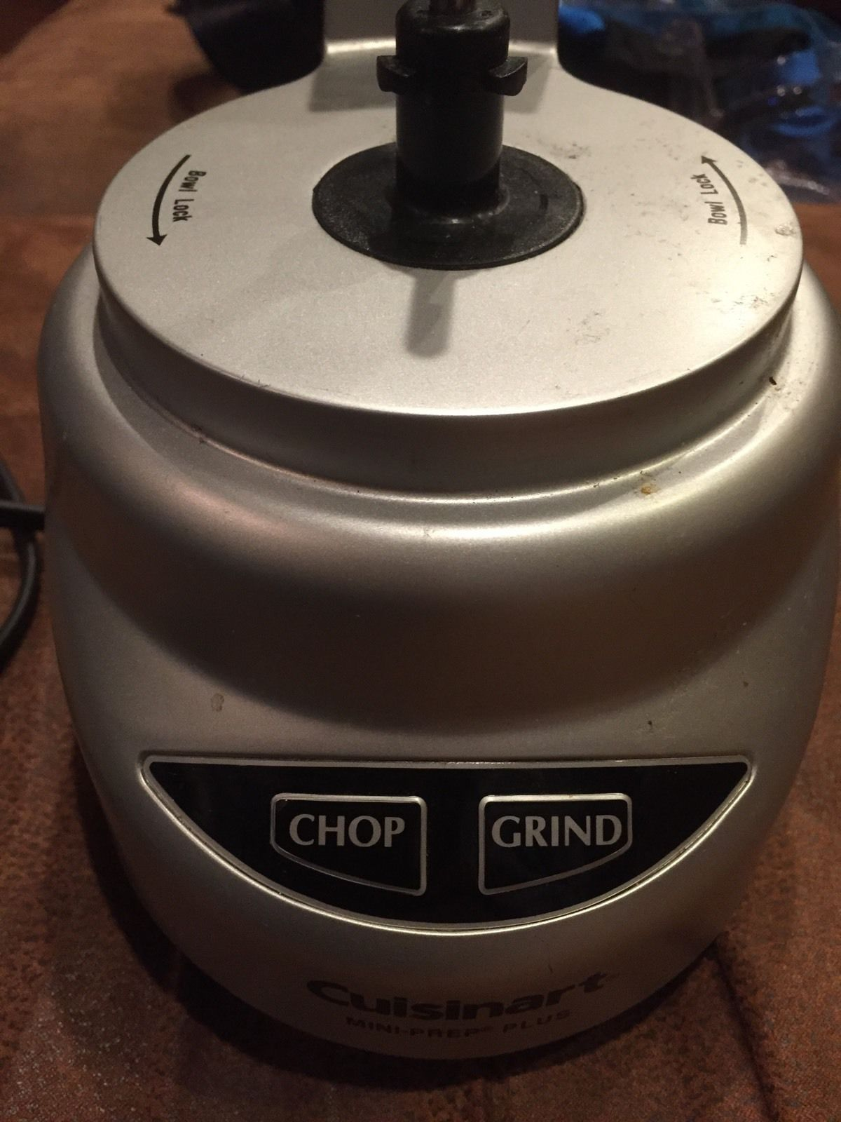 Cuisinart CGC-4 Mini-Prep Plus Replacement Motor Base Chop Grind Silver EUC