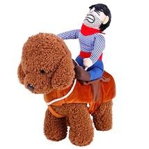 UHeng Funny Pet Dog Cat Dress Up Clothes Cowboy Rider Horse Halloween Co... - $8.63