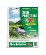 C-Line Biodegradable Poly Top Loading Sheet Protectors, Clear, 8.5 x 11 ... - $5.87