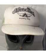 Vintage Beat Up Armellini Express Lines Mesh Snapback Trucker Hat Cap Mi... - $9.45