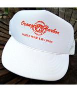 Vintage Orange Harbor Mobile Home RV Park Mesh Snapback Hat OSFA EUC - $14.89
