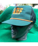 Vintage ABF Trucking Mesh Snapback Hat Cap Green Yellow ArcBest Freight ... - $12.89