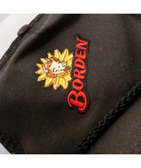 Vintage Borden Dairy Mesh Snapback Cap Hat Cow Milk Emroidered Black OSF... - $11.99