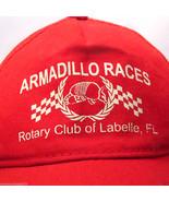 RARE Vintage Armadillo Races Mesh Snapback Cap Hat LaBelle Florida Rotar... - $10.23