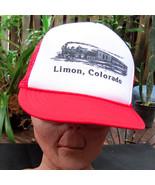 Vintage Limon Colorado Train Locomotive Railroad Mesh Snapback Hat Cap N... - $13.99