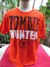 Certified Zombie Hunter Zombie Hunting License Shirt Halloween XL Orange... - $14.59 CAD