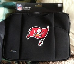 BNWT NFL Black Tampa Bay Buccaneers Shock-Absorbing Laptop Bag by Tribec... - $29.91