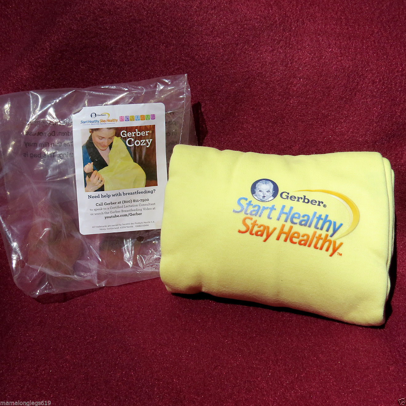 Primary image for NWT Gerber Baby Breastfeeding Nursing Cover Cozy Yellow New in Pkg Never Used
