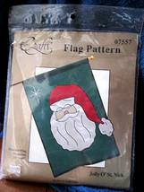 Uncut Fabri Craft Jolly O' St. Nick Holiday Christmas Santa Claus Flag P... - $14.92