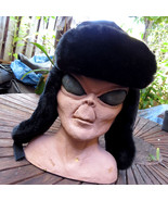 Reversible Black Faux Fur Trapper Aviator Hat Quilted Hunting Camping Fi... - $15.78