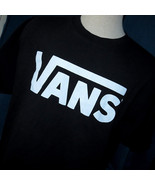 VANS Classic Logo Skater Shirt Black and White Size XL Crew Neck - $14.41