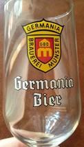 """Germania Bier Beer Brauererai Glass Footed 7"""" C... - $15.85"""