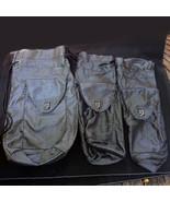 (3) Modzori Silver Black Ladies Large Drawstring Travel Shoe Wedge Tote ... - $14.69