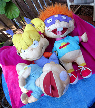 Lot Of 3 BIG Nickelodeon Rugrats Plush Dolls 1998 Tommy Pickles Angelica... - $61.69
