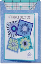 "FLOWER POWER COASTER SET by June Tailor 4"" x 4"" finished size,  JT-711, ... - $7.00"