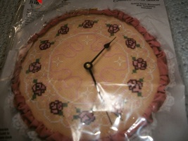 Stitch 'N Time Cross Stitch Clock Kit - $40.00