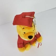 "Disney Winnie the Pooh Red Graduation Cap Gown Diploma 6"" Plush Stuffed ... - $17.66"