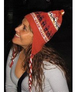 Peruvian Chullo, typical Hat, knitted of Alpacawool - $23.00