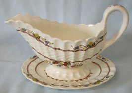 Spode Cowslip S713 Gravy with Under Plate  - $60.28