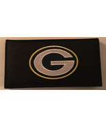Green Bay Packers Black Leather Checkbook Cover Green Bay - $22.00