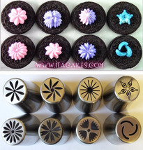 8 Cake Decorating  Russian Piping Nozzle, Icing Tulip Tips, Cake Icing Tips - $14.00