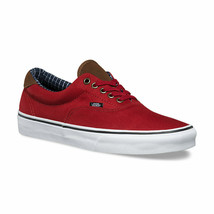 Vans Era 59 (Cord & Plaid) Red Dahlia Mens Skate Shoes Size 11 - $54.95