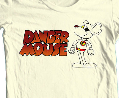 Danger Mouse T shirt Saturday Morning cartoon retro 70's vintage 100% cotton tee