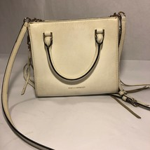 Rebecca Minkoff Cross body Tote Mini White Zipper Tassels Butterfly Lining - $39.99