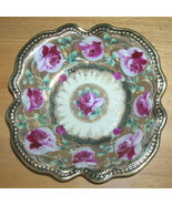 Antique Gilt Hand Painted Japanese Nippon Moriage Jeweled Bowl  - $203.99
