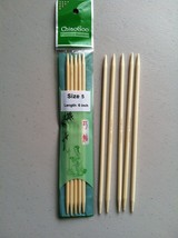 ChiaoGoo 6 Inch Moso Bamboo Natural Double Point Knitting Needles MPN 1016 - $8.34 CAD+