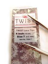 ChiaoGoo Twist 4 Inch (10 cm) Red Lace IC Tips - Knitting Needles MPN 7504 - $11.54 CAD+