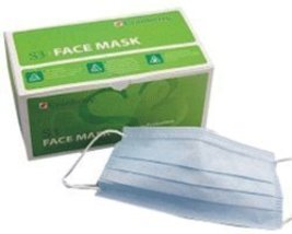 Cranberry USA, Inc S3090G Cranberry S3 Mint Premium Face Mask 50/Box Green - $5.39