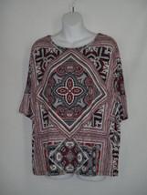 Size 1  8-10  Chicos Print Geometric Scarf Boho Blouse Shirt - $37.39