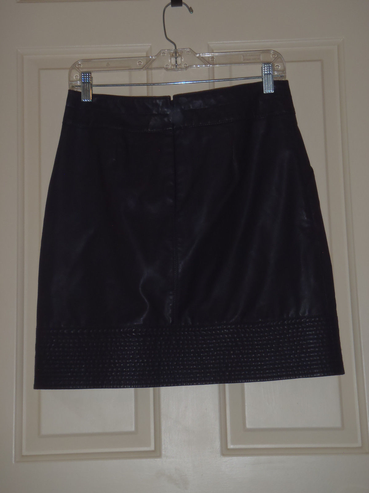 Size 4 US Anthropologie Vanessa Virginia Plum Faux Leather Mini Skirt