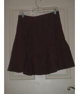 NEW Anthropologie Elevenses Linen Skirt Size 4 Brown A Line - $17.76
