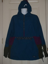 VINTAGE LL BEAN USA MENS LARGE L TEAL PURPLE PULLOVER JACKET INDIAN MOTIF - $76.87