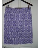 J Crew Purple Size 2  No. 2 pencil skirt in medallion paisley 72585 - $46.43